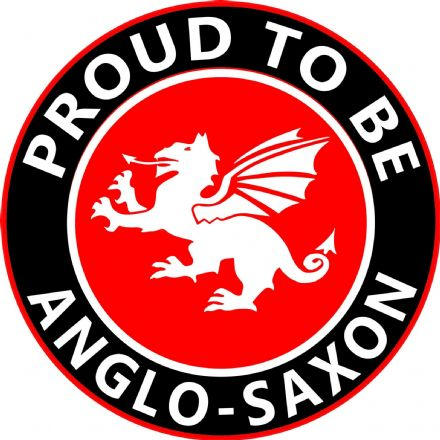 """Proud To Be Anglo-Saxon""  England Lorry/Van XL Size Sticker"
